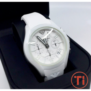 エンポリオアルマーニ(Emporio Armani)のEMPORIO ARMANI White Ceramic ウォッチ 腕時計(腕時計(アナログ))