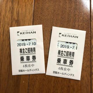 ケイハンヒャッカテン(京阪百貨店)の京阪株主優待乗車券 8枚(鉄道乗車券)