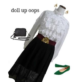 【doll up oops】メッシュチュールスカート ミモレ丈