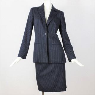 バーバリー(BURBERRY)のバーバリー スカート スーツ 36 濃紺 S 7号 tqe 秋春 ★極美品★(スーツ)