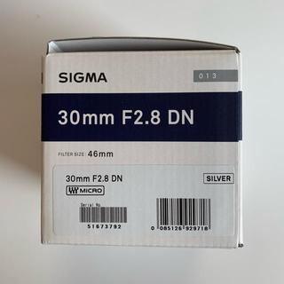 シグマ(SIGMA)のSIGMA シグマ 30mm F2.8DN  単焦点 新品未使用品(レンズ(単焦点))