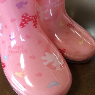ディズニー(Disney)の新品未使用 レインブーツ 長靴 ミニー ディズニー 13 子供用品 靴(長靴/レインシューズ)