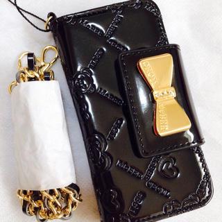 セシルマクビー(CECIL McBEE)のセシルマクビー iPhone5/5sセシルベアー手帳型カバーブラック黒 新品(iPhoneケース)