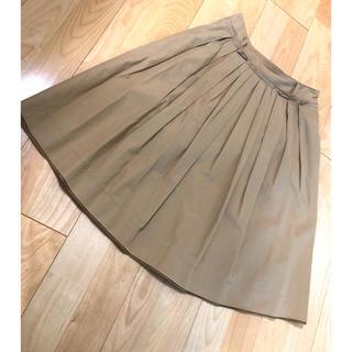 イネド(INED)のINEDフレアスカート(ひざ丈スカート)