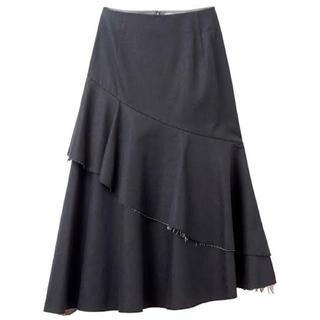 ルシェルブルー(LE CIEL BLEU)のLE CIEL BLEU ヘプラムフレアスカート 36 ルシェルブルー(ひざ丈スカート)