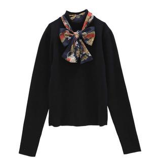 エイミーイストワール(eimy istoire)のスカーフデザインニットプルオーバー(ニット/セーター)