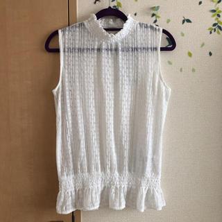 ジーユー(GU)のGU/レースノースリーブ(シャツ/ブラウス(半袖/袖なし))