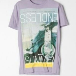 GAS  men's プリントTシャツ XL