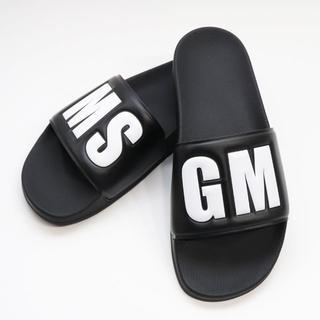エムエスジイエム(MSGM)の新品 正規品 MSGM ロゴ サンダル シャワーサンダル スポーツ スポサン 黒(サンダル)