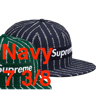 シュプリーム(Supreme)の正規 19ss Supreme Text Stripe New Era Navy(キャップ) 92ec610eccb
