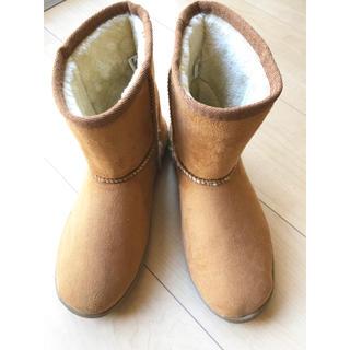 ムジルシリョウヒン(MUJI (無印良品))の美品 無印良品 ボア ムートンブーツ 23.5cm UGG好きな方も(ブーツ)