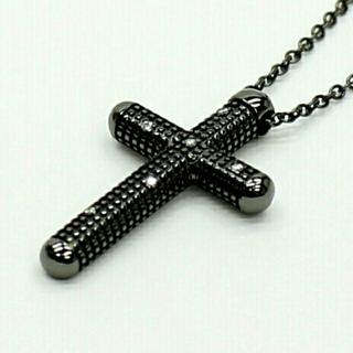 ダミアーニ(Damiani)の新品 DAMIANI メトロポリタンドリーム クロス ネックレス ブラック (ネックレス)