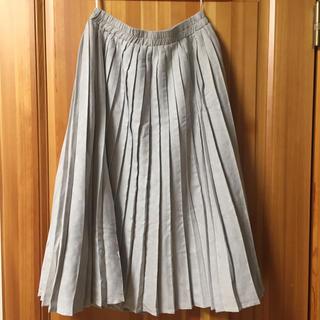 ダブルネーム(DOUBLE NAME)のダブルネーム フェイクスエードプリーツスカート(ひざ丈スカート)