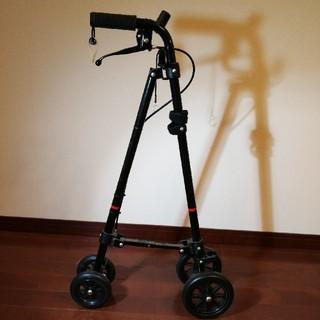 (美品)ローラーステッカー歩行補助器具(タイヤ付の杖)(歩行器)