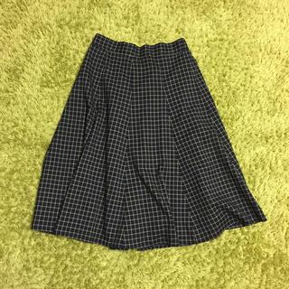 エージープラス(a.g.plus)のフレアスカート*チェック(ひざ丈スカート)