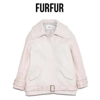 ファーファー(fur fur)の新品未使用タグ付き★FURFUR レザーxメルトンボンバージャケット★(ライダースジャケット)