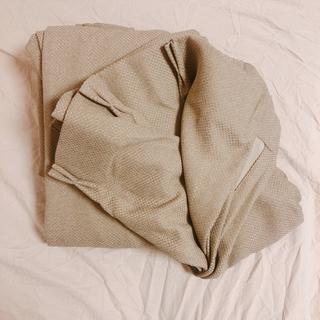 ムジルシリョウヒン(MUJI (無印良品))の無印良品 カーテン 幅100×丈200 グレー 防炎(カーテン)
