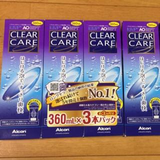 クリアクレア(clear crea)のコンタクト 洗浄液 クリアケア 4本セット(日用品/生活雑貨)