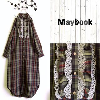 Maybook*メイブック*リネン100%羽織ロングマキシワンピース*日本製