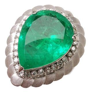 【エメラルド6.54ct】【ダイヤモンド計0.47ct】PM900指輪#11号 (リング(指輪))