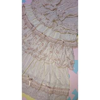 ピンクハウス(PINK HOUSE)のピンクハウス  リトルドロップ  段々スカート  フードつきサテンリボンブラウス(セット/コーデ)