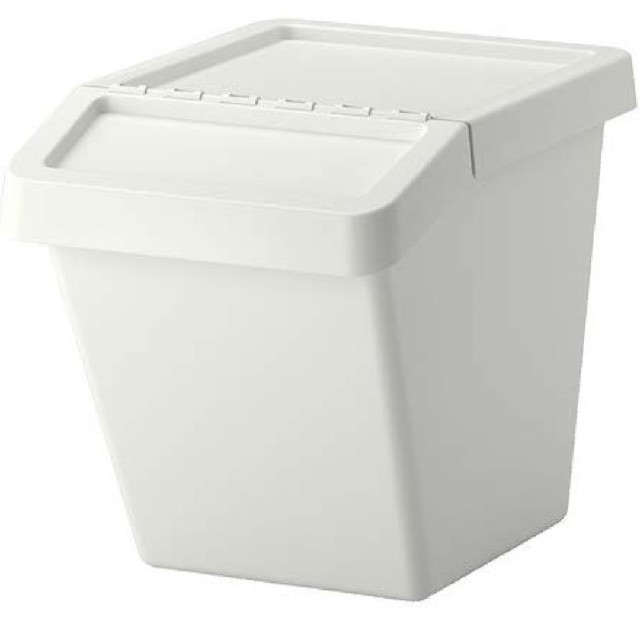 IKEA(イケア)のイケヤ ゴミ箱二個セット 値下げ インテリア/住まい/日用品のインテリア小物(ごみ箱)の商品写真