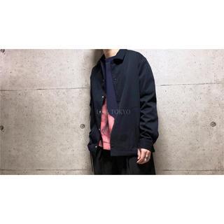 [used]JUNRED dark navy shirt/jacket.(ナイロンジャケット)