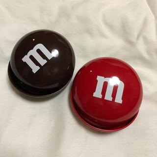 エムアンドエム(M&M)のチョコレート 雑貨 缶 カン(小物入れ)