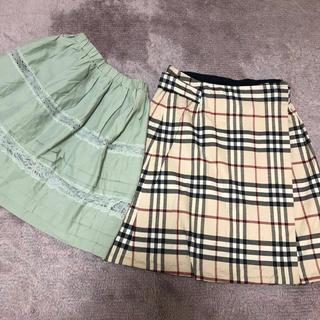 バーバリー(BURBERRY)のBurberryスカート  snidelスカート 二枚まとめて(ひざ丈スカート)