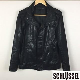 シュリセル(SCHLUSSEL)の美品 シュリセル レザージャケット ブラック サイズ3(レザージャケット)