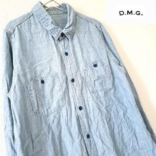 ディーエムジー(D.M.G)の♡D.M.G♡シャンブレーロングワークシャツ( *´艸) Mサイズ(シャツ/ブラウス(長袖/七分))