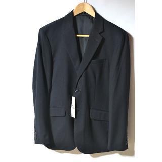 ジーユー(GU)の新品 GU ジーユー テーラードジャケット ブラック メンズ スリムフィット M(テーラードジャケット)