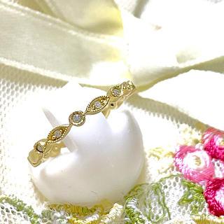いちご様専用❣️k10 ゴールド ダイヤ マット仕上げ リング(リング(指輪))