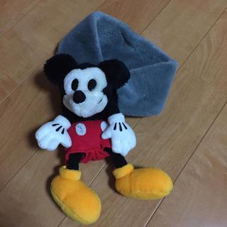 ディズニー(Disney)のミッキー付☆キッズマフラー☆マジックテープ式☆送料込み(マフラー/ストール)