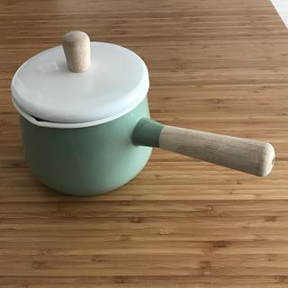 イケア(IKEA)のIKEA イケア 琺瑯ソースパン 1.5L フタ付き KASTRULL グリーン(鍋/フライパン)