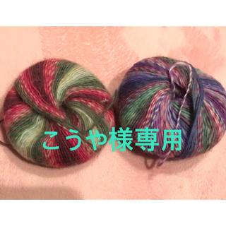 こうや様専用 三味線 指すり 2個セット 赤紫、紫グラデ(三味線)