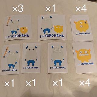 ヨコハマディーエヌエーベイスターズ(横浜DeNAベイスターズ)の横浜DeNAベイスターズ「I☆(LOVE)YOKOHAMA」ステッカー(記念品/関連グッズ)