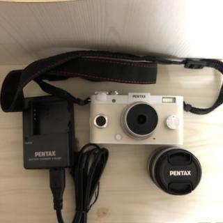 ペンタックス(PENTAX)のカメラ PENTAX Q10 ミラーレス 望遠レンズ ホワイト(ミラーレス一眼)