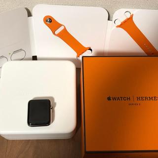 アップルウォッチ(Apple Watch)のAppleWatch Series3 エルメスモデル Care加入済 42mm(腕時計(デジタル))