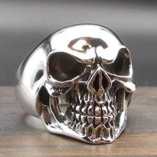 スカル ドクロ リング シルバー925 指輪 デザインリング 24号(リング(指輪))