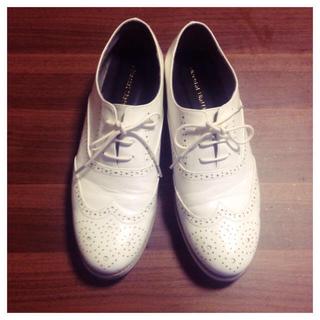 オリエンタルトラフィック(ORiental TRaffic)の◆レースアップシューズ◆ホワイト(ローファー/革靴)