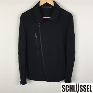 シュリセル(SCHLUSSEL)の新品同様品 シュリセル ジャケット ブラック サイズ2(ブルゾン)