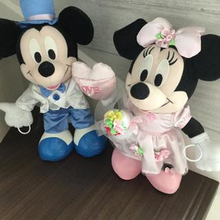 ディズニー(Disney)のディズニー ミッキー・ミニーぬいぐるみ(ウェルカムボード)