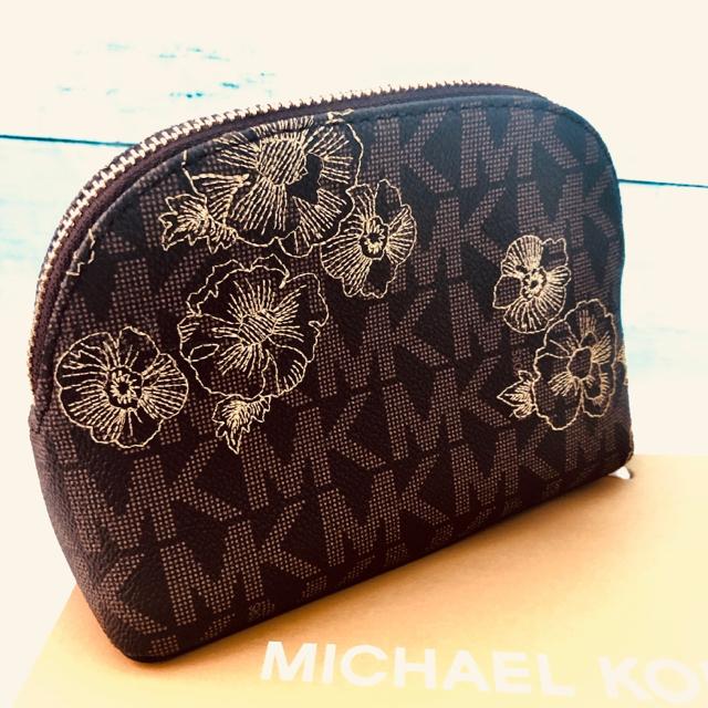 4e75e5639c0b Michael Kors(マイケルコース)の高級 刺繍 MK マイケルコース 化粧ポーチ 小物入れ