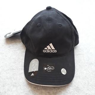 アディダス(adidas)の【新品未使用】アディダス キャップ キッズ レディース 黒(帽子)