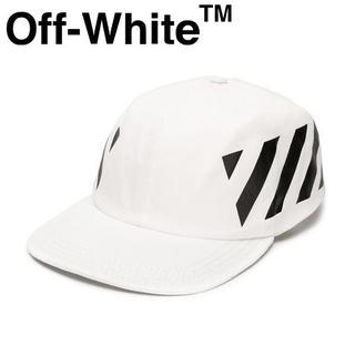 オフホワイト(OFF-WHITE)の【1】OFF-WHITE19SS ホワイト ステンシルストライプ フリーキャップ(キャップ)