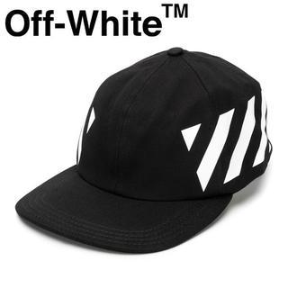 オフホワイト(OFF-WHITE)の【2】OFF-WHITE19SS ブラック ステンシルストライプ フリーキャップ(キャップ)