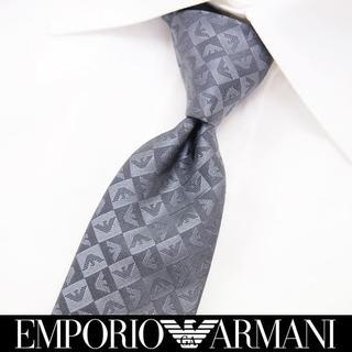 エンポリオアルマーニ(Emporio Armani)の【188】EMPORIO ARMANI グレー SILK ネクタイ (ネクタイ)