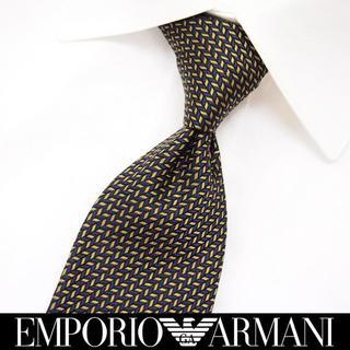 エンポリオアルマーニ(Emporio Armani)の【189】EMPORIO ARMANI  ゴールド SILK ネクタイ(ネクタイ)
