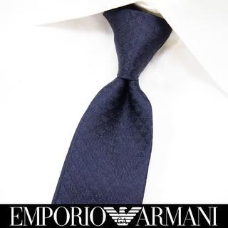エンポリオアルマーニ(Emporio Armani)の【192】EMPORIO ARMANI ネイビー SILK ネクタイ(ネクタイ)
